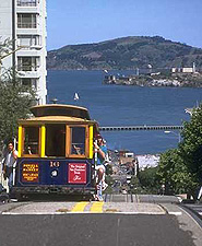 Ride a San Francico cable car from Fisherman's Wharf to Union Square.